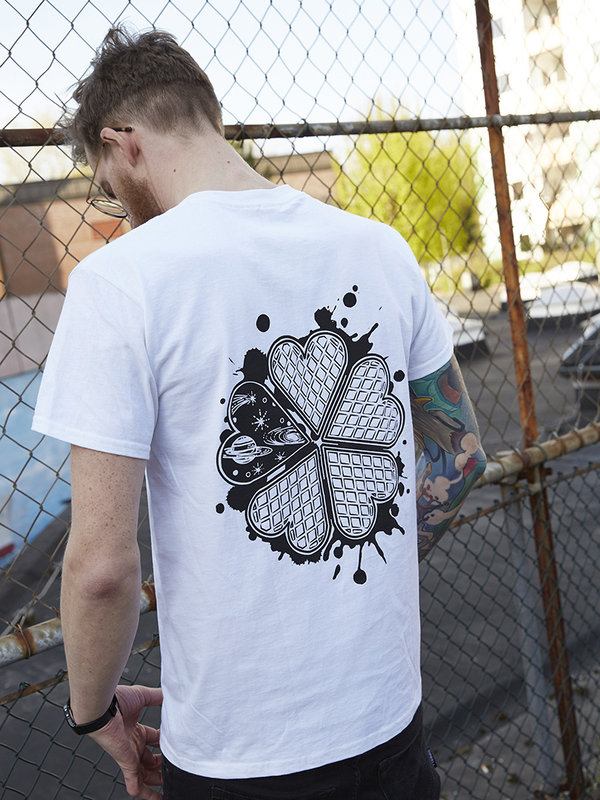 "T-Shirt ""Space Waffle"" weiß"