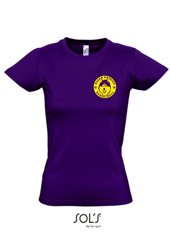 "Hagen Huskies Damen Shirt ""Purple"""