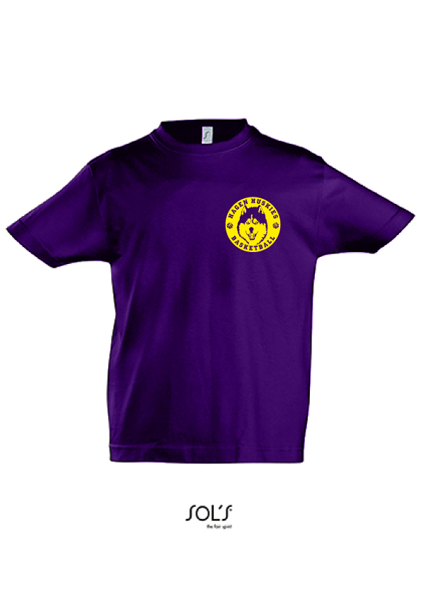 "Hagen Huskies Kids Shirt ""Purple"""